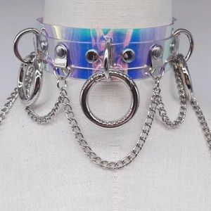 Jewelry - Technicolor Queen Holographic Choker